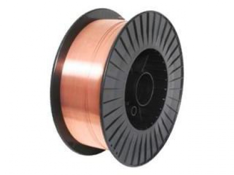 СВ-08Г2С-О d=1.0 mm welding wire with coppered surface on 5 kg plastic spool