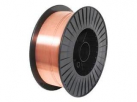 СВ-08Г2С-О d=1.0 mm welding wire with coppered surface on 15 kg plastic spool